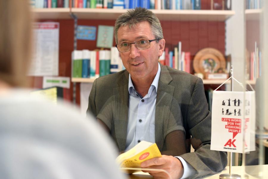 Bezirksstellenleiter Hannes Stockhammer © Wolfgang Spitzbart, Arbeiterkammer Oberösterreich