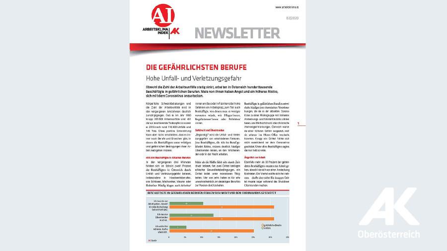 Arbeitsklima Index 2020/2 © -, Arbeiterkammer Oberösterreich