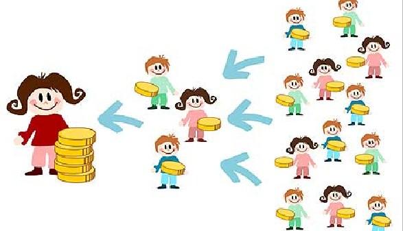 Symbolbild: Menschen und Geld in Pyramidenform © thingamajiggs, Fotolia.com