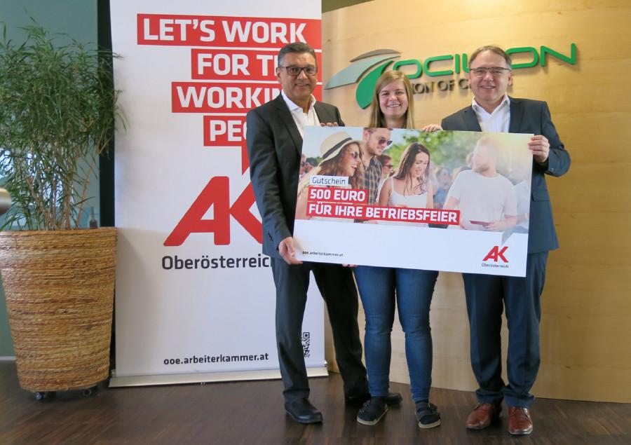 Preisübergabe © G. Rachbauer, Arbeiterkammer Oberösterreich
