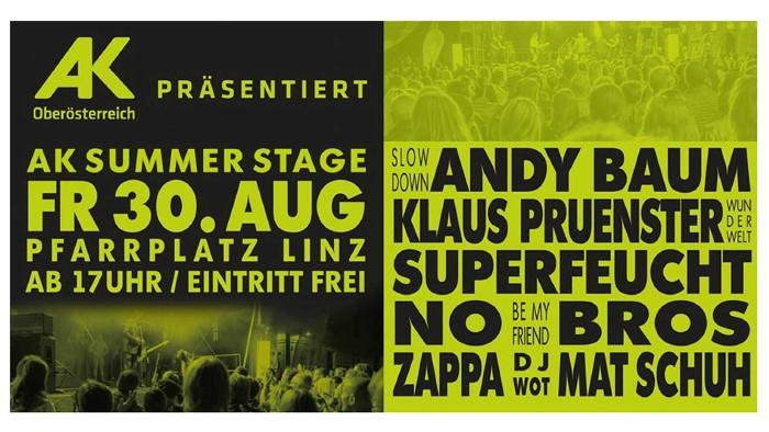AK Summer Stage 2019 - Plakat © AK Oberösterreich