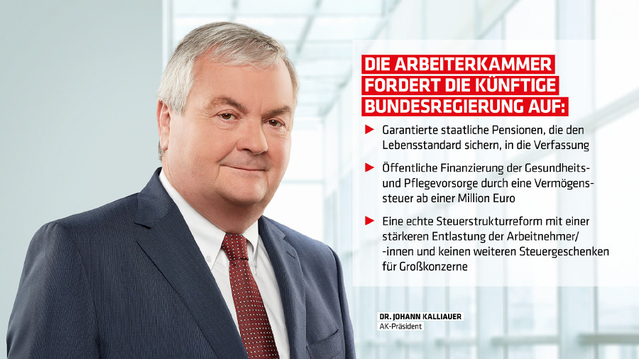 Dr. Johann Kalliauer © -, Arbeiterkammer Oberösterreich