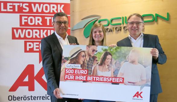 Preisübergabe © G.Rachbauer, Arbeiterkammer Oberösterreich
