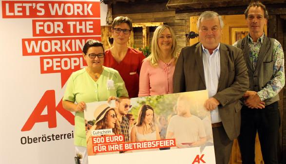 Preisübergabe © A. Ecker, Arbeiterkammer Oberösterreich