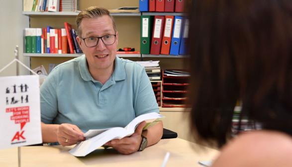 Bezirksstellenleiter Stefan Wimmer © Wolfgang Spitzbart, Arbeiterkammer Oberösterreich