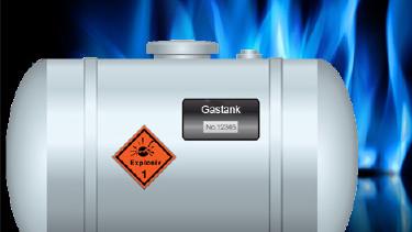 Gastank mit Gasflammen im Hintergrund © iconshow   bystudio, Fotolia.com