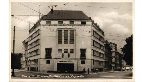 Postkarte mit AK Linz 1930 © -, Arbeiterkammer Oberösterreich
