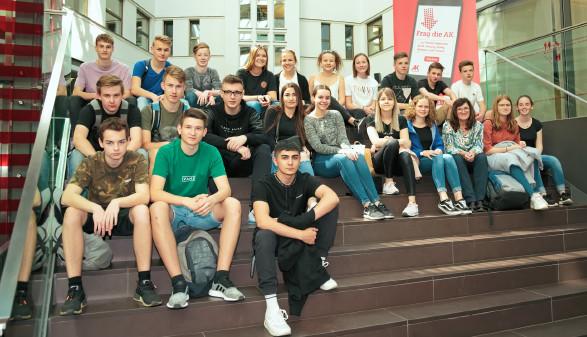 Klassenfoto der HAK Kirchdorf © Florian Dolzer, Arbeiterkammer Oberösterreich