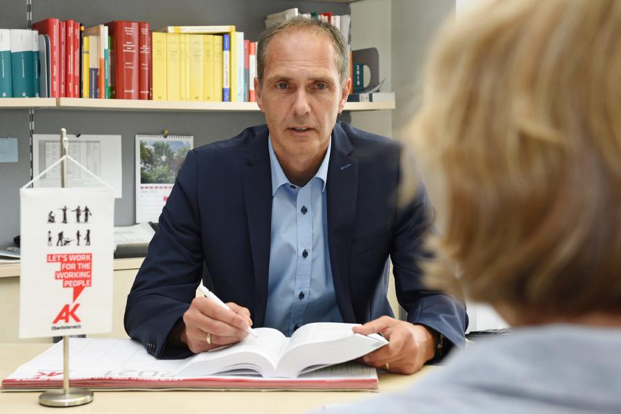 Bezirksstellenleiter Wolfgang Schwarz © Wolfgang Spitzbart, Arbeiterkammer Oberösterreich
