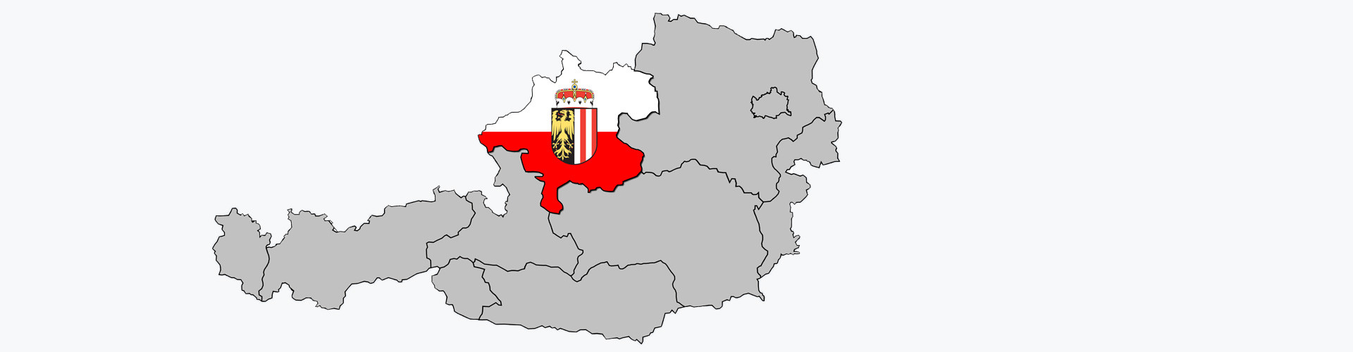 Karte Oberösterreich © Sven Knie , stock.adobe.com