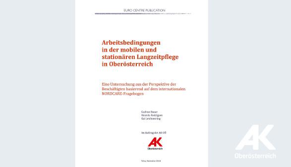 Studie: Arbeitsbedingungen in der Langzeitpflege in OÖ © -, Arbeiterkammer Oberösterreich
