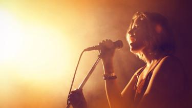 Sängerin im Scheinwerferlicht © vectorfusionart, stock.adobe.com