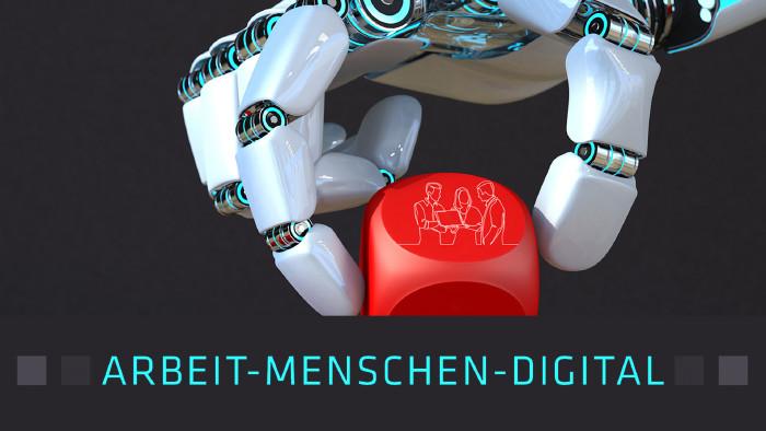 Roboterhand greift Würfel © Alexander LImbach | One Line Man, Fotolia | AKOÖ