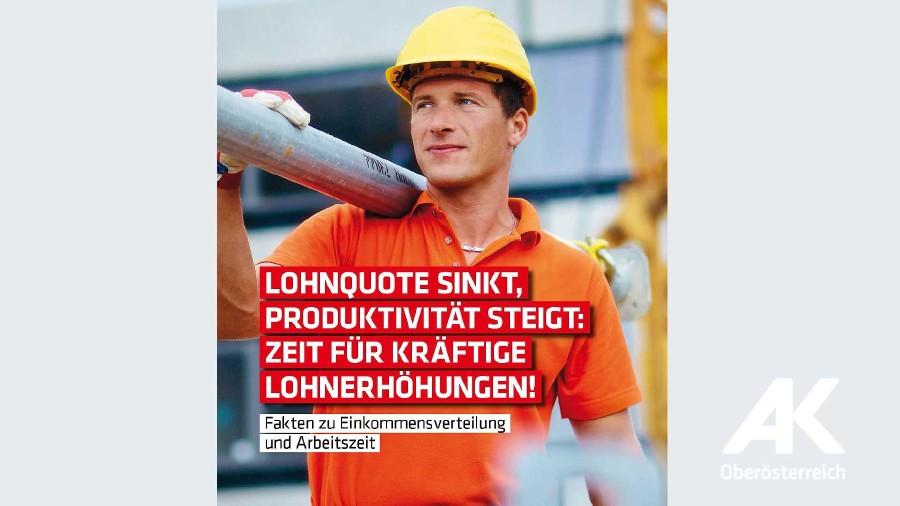 Fakten zur Einkommensverteilung und Arbeitszeit 2018 © AK Oberösterreich