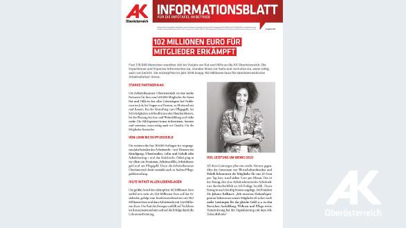 Informationsblatt 2019 Nr. 2 © ., Arbeiterkammer Oberösterreich