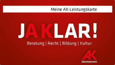 AK-Leistungskarte © -, Arbeiterkammer Oberösterreich