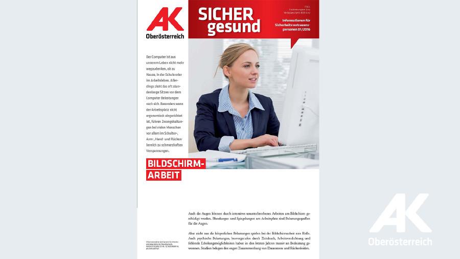 Wandzeitung Sicher Gesund 2016 - Nr. 1 © -, Arbeiterkammer Oberösterreich