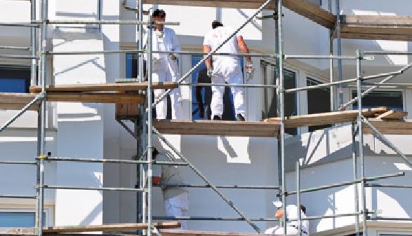 Bauarbeiter auf Gerüst © photo 5000, Fotolia.com