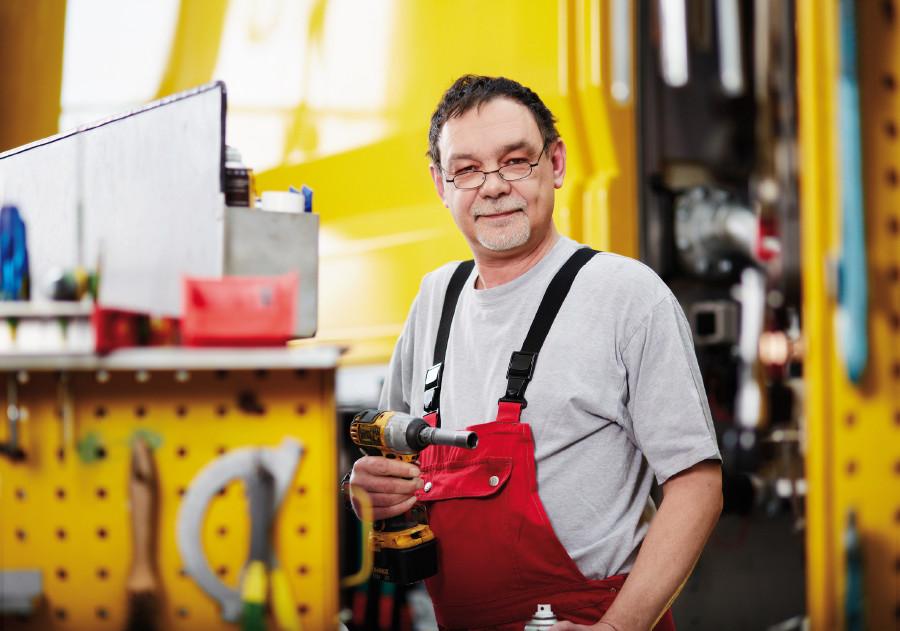Älterer Arbeitnehmer © F. Stöllinger, Arbeiterkammer Oberösterreich