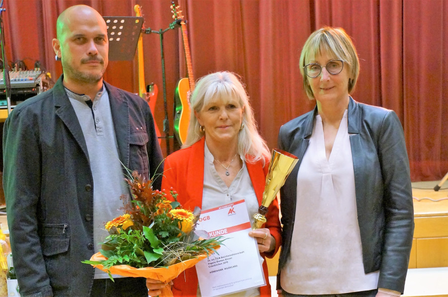 Gewinnerin der Kegelmeisterschaft Grieskirchen © G.Übleis, Arbeiterkammer Oberösterreich