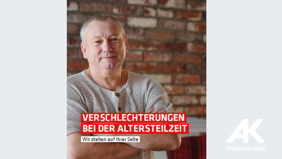 Broschüren-Cover Verschlechterungen bei der Altersteilzeit © -, Arbeiterkammer Oberösterreich
