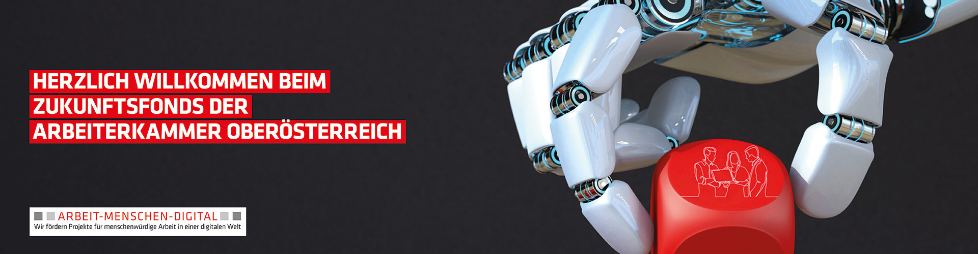 Roboterhand greift Würfel © Alexander Limbach, One Line Man, fotolia | akooe