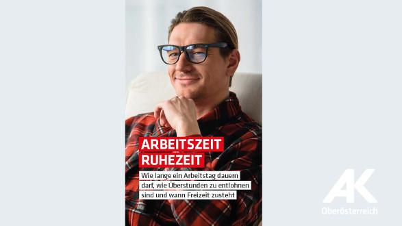 Broschüren-Cover Arbeitszeit Ruhezeit © Arbeiterkammer Oberösterreich
