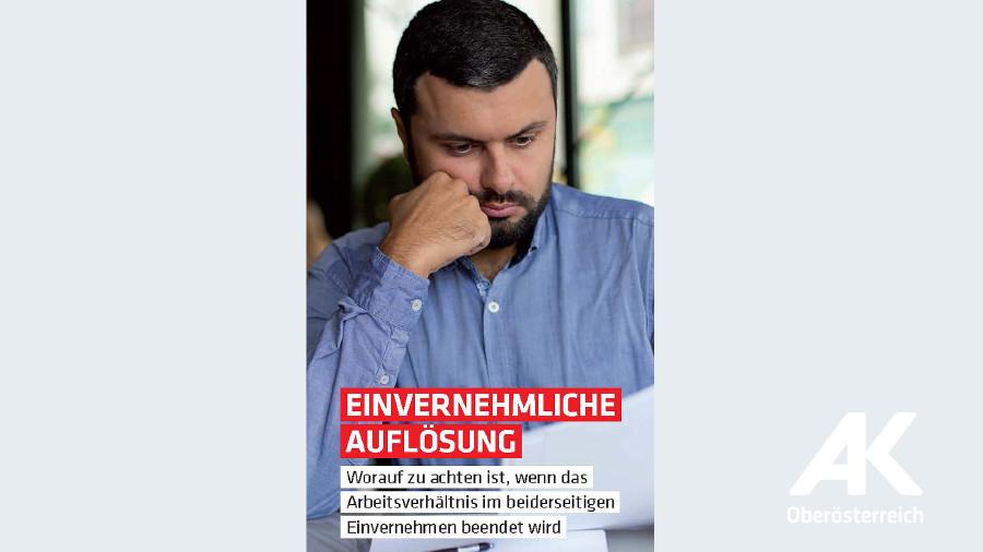 Broschüren-Cover Einvernehmliche Auflösung © -, Arbeiterkammer Oberösterreich