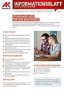 Informationsblatt: Steuerausgleich 2018 © AK Oberösterreich