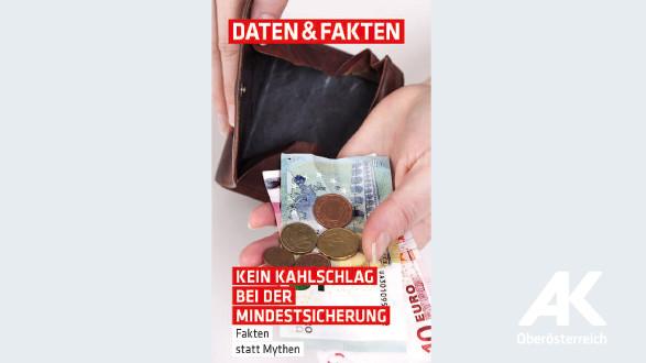 Kein Kahlschlag bei der Mindestsicherung © -, Arbeiterkammer Oberösterreich