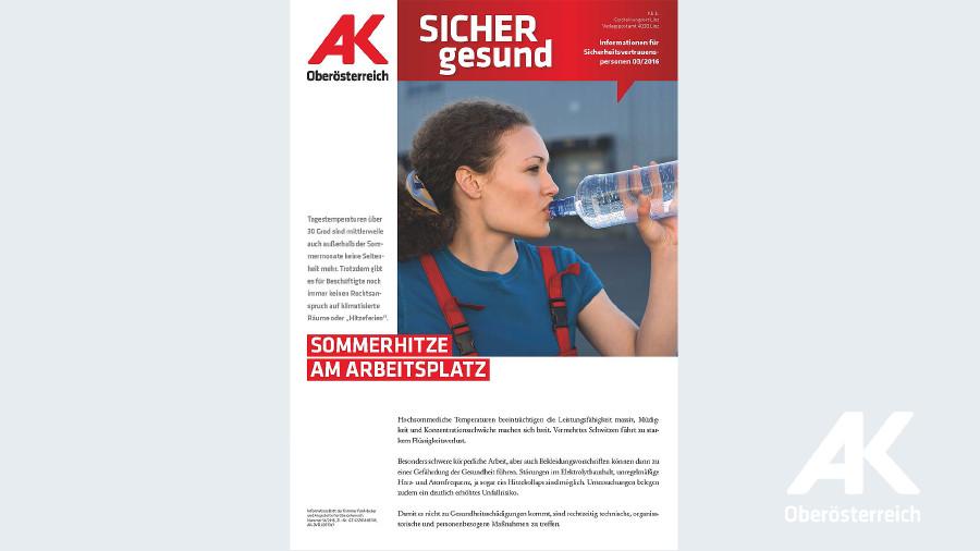 Wandzeitung Sicher Gesund 2016 - Nr. 3 © -, Arbeiterkammer Oberösterreich