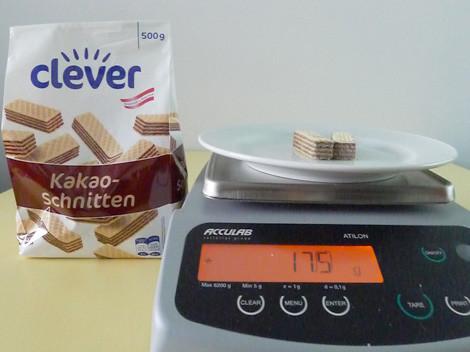 2 Stück Kakaoschnitten = 1 Portion für Nährwertangabe © AKOÖ, -