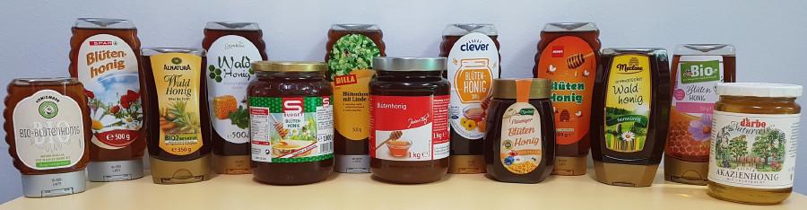 Die vom AK Konsumentenschutz getesteten Honigsorten © -, Arbeiterkammer Oberösterreich