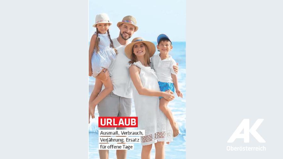 Broschüren-Cover Urlaub © -, Arbeiterkammer Oberösterreich