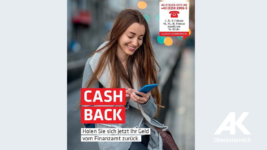Broschüre Cash back © -, Arbeiterkammer Oberösterreich