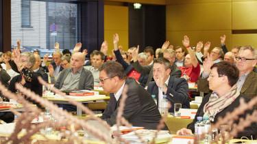 Abstimmung bei der AK-Vollversammlung © Florian Dolzer, Arbeiterkammer Oberösterreich