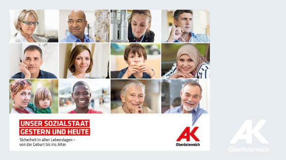 """Cover der Festschrift """"Unser Sozialstaat gestern und heute"""" © -, Arbeiterkammer Oberösterreich"""