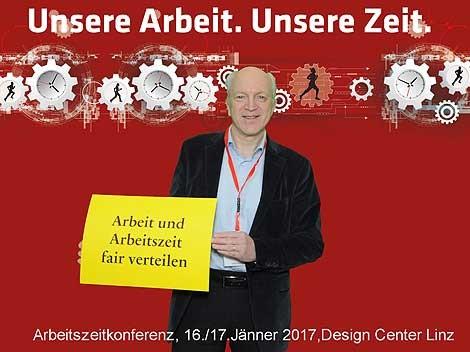 Arbeitszeitkonferenz 2017: Im Bild Direktor Dr. Moser MBA © -, AK Oberösterreich