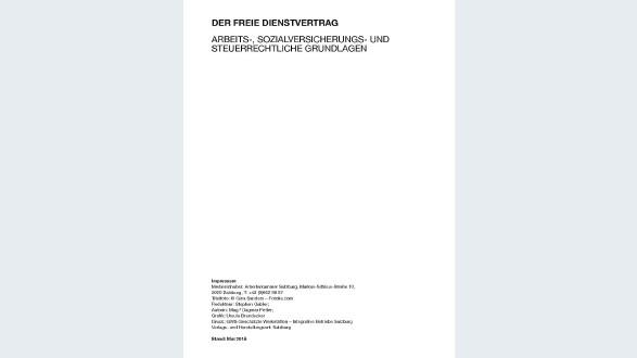 Broschüre: Der freie Dienstvertrag © -, AK Salzburg