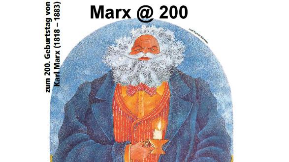 Zeichnung von Karl Marx © Josè Ramôn Sànchez, -