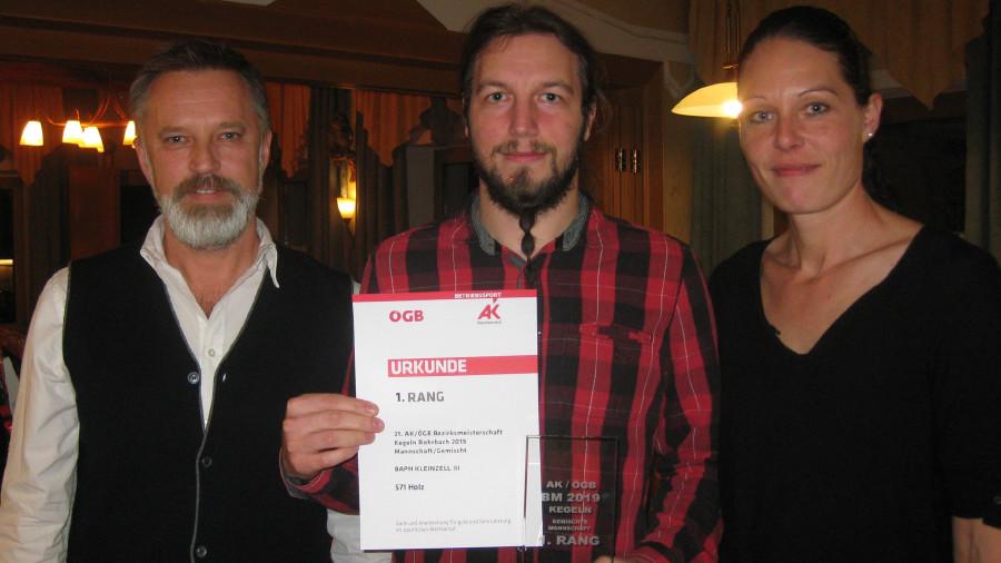 Siegerehrung der gemischten Mannschaftswertung © -, Arbeiterkammer Oberösterreich