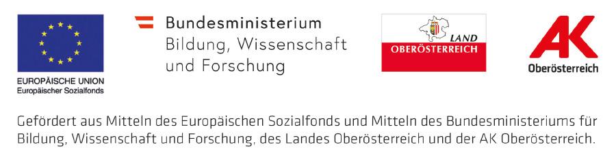 Logos Fördersatz Bildungsberatung © -, Arbeiterkammer Oberösterreich
