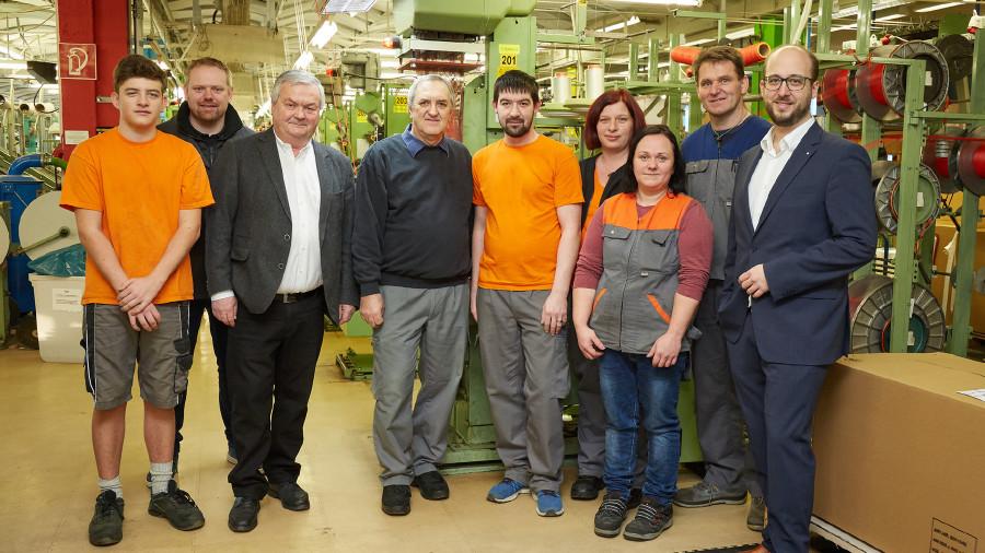 Beschäftigte der Firma Haberkorn mit AK-Präsident Kalliauer © -, Arbeiterkammer Oberösterreich