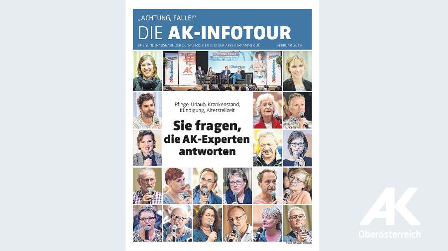 """Achtung """"Falle"""" - Die AK-Infotour - Sonderbeilage der OÖN und AK © -, Arbeiterkammer Oberösterreich"""
