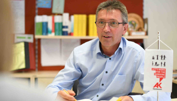 Leiter der AK-Bezirksstelle Kirchdorf - Hannes Stockhammer © Wolfgang Spitzbart, AK OÖ