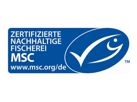 Logo MSC Zertifizierte Nachhaltige Fischerei © MSC, -