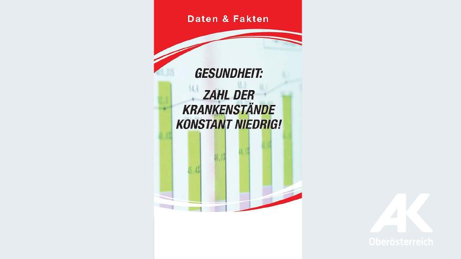 Zahl der Krankenstände konstant niedrig! © -, Arbeiterkammer Oberösterreich