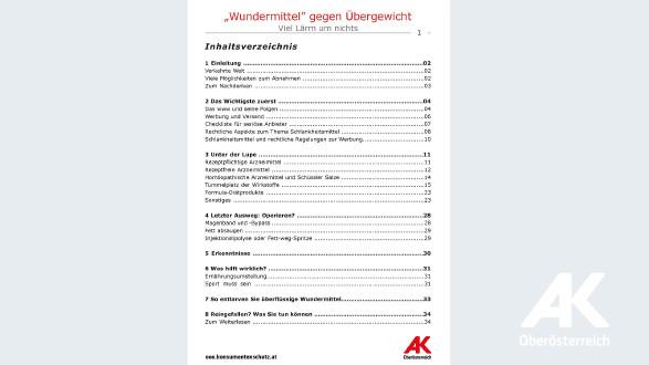 Broschüre: Wundermittel gegen Übergewicht © -, Arbeiterkammer Oberösterreich