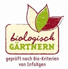 """Gütesiegel """"biologisch gärtnern"""" für einen rundum gesunden Garten © BIOLOGISCH GÄRTNERN"""