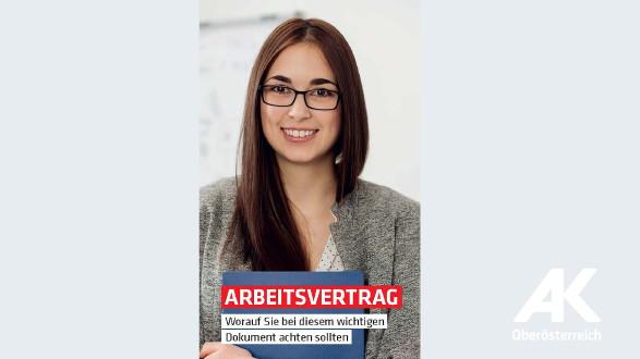 Broschüren-Cover Arbeitsvertrag © -, Arbeiterkammer Oberösterreich